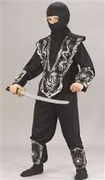 Boys Silver Ninja Warrior Child Costume
