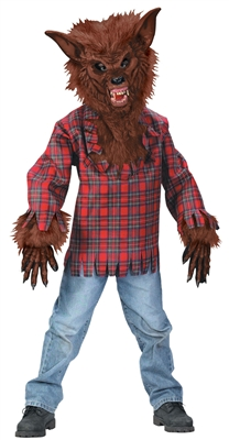 Boys Brown Werewolf Child Costume