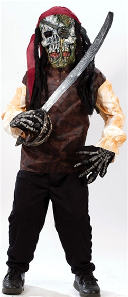 Scary Skeleton Pirate Costume