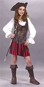 Child High Seas Buccaneer Girls Costume