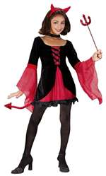 Girls Dazzling Devil Child Costume