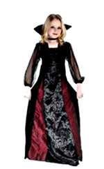 Child Gothic Maiden Vamp Girls Costume