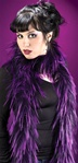 Purple and Black Gothic Boa - Accessory