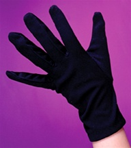 Child Sized Costume Gloves - Black