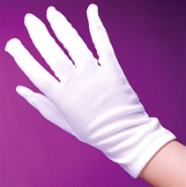 Child Sized Costume Gloves - White