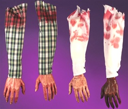 White Shirt Sleeve With Severed, Bloody Right Arm - Accessory