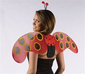 Child Lady Bug Wings Costume Kit