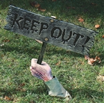 Keep Out! Graveyard Sign