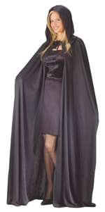 Black Hooded Cape - Accessory