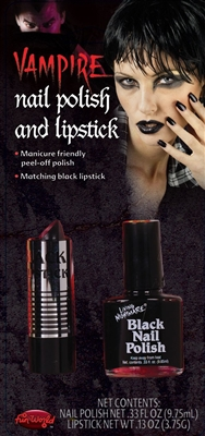 Black Lipstick and Nail Polish