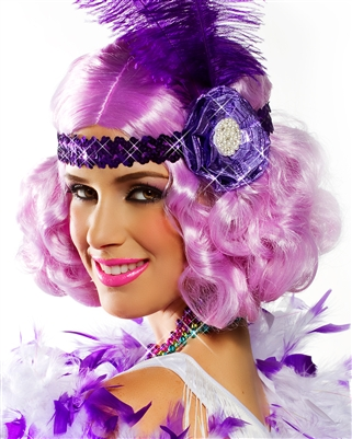 Lilac Party Flapper Wig