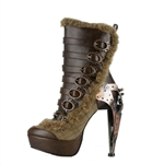 Hades Polaro Brown Steampunk Boots