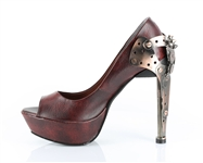 Hades Burgundy Steampunk Shoes