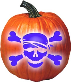 Hand Crafted Everlasting Pumpkin - Pirate