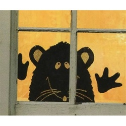 Peek-a-boo wall / window cling - Rat