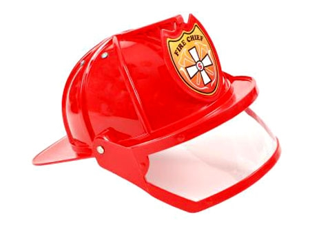 Plastic Fire Chief Adult Hat