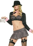 Sexy Gangster Girl Costume from Leg Avenue - Pink Stripes