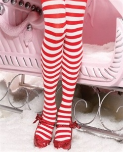 Queen Size Striped Stockings