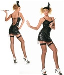 Sexy Black Flapper Costume
