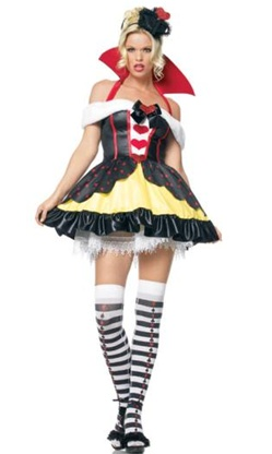 Sexy Queen of Hearts Halloween Costume