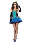 Sexy Blue Beauty Peacock Costume
