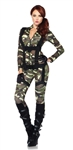 Sexy Pretty Paratrooper Costume - Camo Military