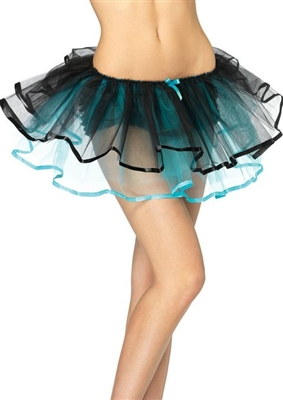 Reversible Black and Blue Petticoat