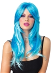 Long Glow Two-Tone Blue Wig by Leg Avenue
