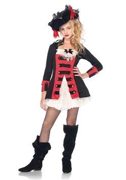 Teen Pretty Pirate Captain Costume