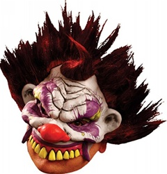 Abnormo the Clown Half Mask - Adult