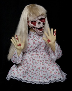 Scary Girl Haunted House Prop