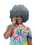 Adult Grey Oversized Afro Wig