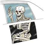 Skeleton Car Window Cling Decoration