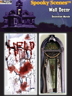 Spooky Scenes Wall Decor 2 Pack - Accessory
