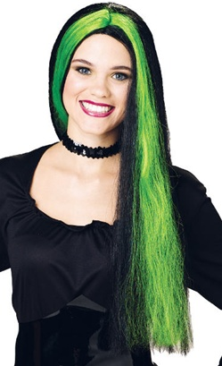 Witch Wig with Streaks