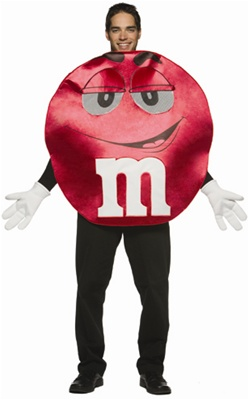 Deluxe M&M's Red Character Adult Costume