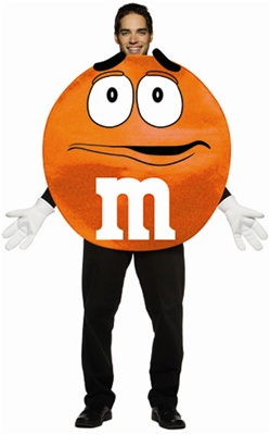 Deluxe M&M's Orange Character Adult Costume
