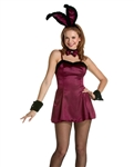 Sexy Burgundy Cocktail Bunny Costume
