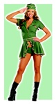 Pin Up Army Costume