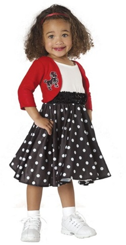 Toddler Polka Dot Rocker 50's Costume
