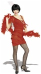 Roarin Red Flapper Adult Costume