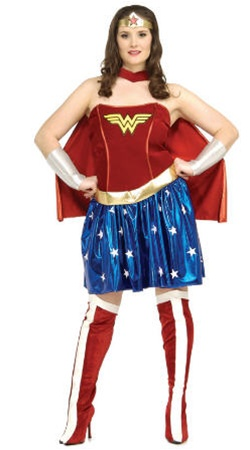 Plus Size Adult Wonder Woman Costume
