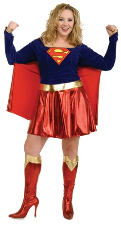 Plus Size Adult Super Girl Costume