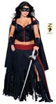 Sexy Plus Size Adult Lady Zorro Costume