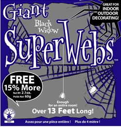 Halloween Spider Web Black