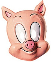 Looney Toons - Kids Porky Pig Mask