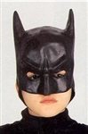 Batman Kid Sized Latex Half Mask