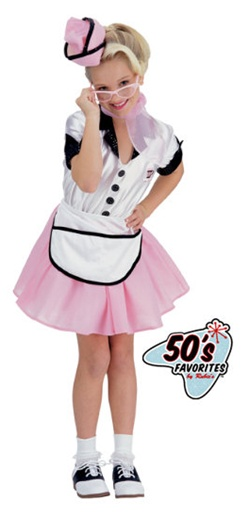 50's Soda Pop Girl Costume - Kids