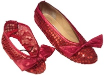Girls Dorothy Ruby Red Shoe Covers