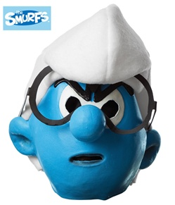 Adult Brainy Smurf Mask - Smurfs